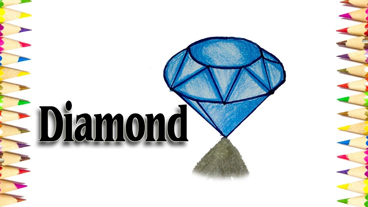 How to Draw a 3D Diamond - We Drawing 3D Tutorials - SLD
