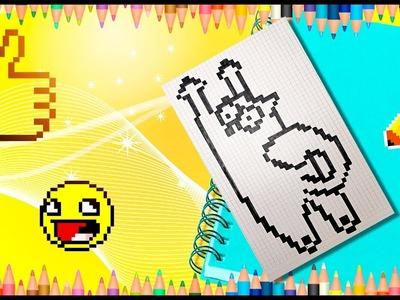 How to draw Simon's cat. Pixel Simon's Cat