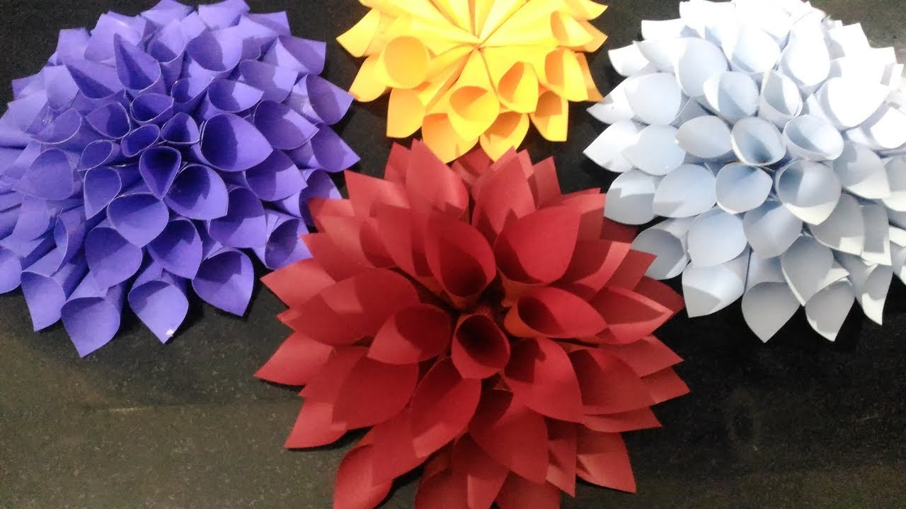 How To Make Easy And Realistic Dahlia Paper Flower