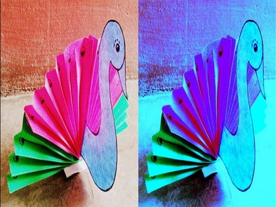 How To Make Peacock By Paper | Easy way | कागज  से  मोर बनाना |