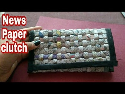 Newspaper cluch | Newspaper hand bag | Women's handbags I How to make a newspaper purse | HMA##065