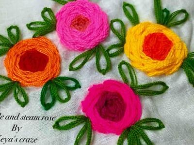 Rambler rose and steam rose.Keya's craze hand embroidery-37