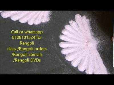 Rangoli free hand designs by Satish Thavi Rangoli class