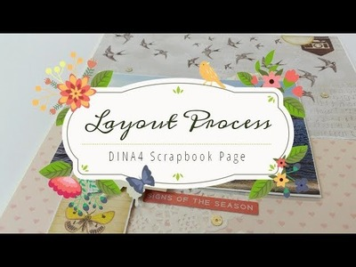 Scrapbooking Layout Process . DIN A4. Scrapbook Page. Crazy Clusters