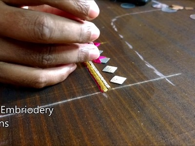 Simple maggam work blouse designs | mirror work blouses tutorial, hand embroidery designs