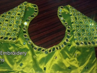 Simple maggam work blouse designs   hand embroidery designs   basic embroidery stitches