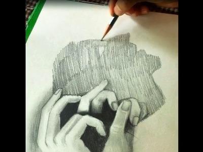 Trick Art on Line Paper - Drawing 3D Finger Part 2- Full HD