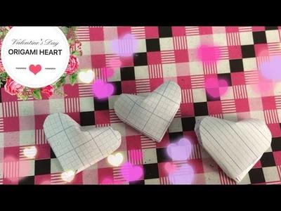 #15 Xếp hình trái tim 3D - Origami tutorial - Heart