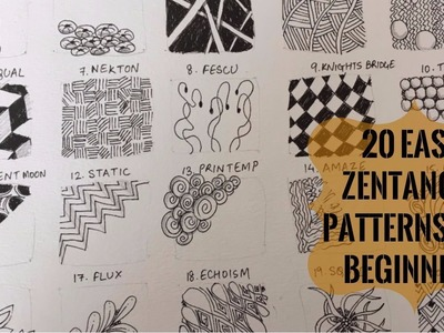 20 Easy Zentangle Patterns for Beginners to start off Zentangling! - How to Zentangle for beginners