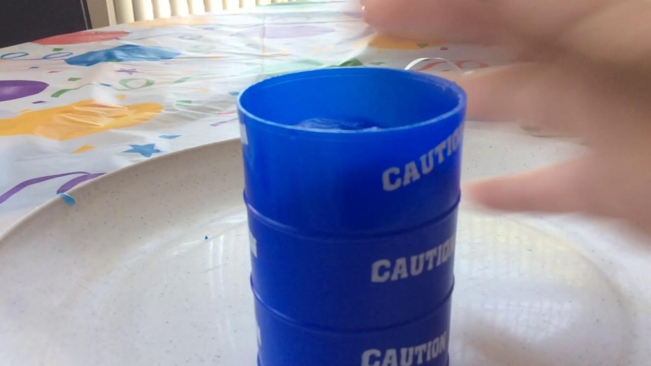 Blue caution slime form dollar store.w.best friend | 1280 x 720 jpeg 92kB
