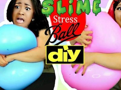 DIY GIANT FLUFFY SLIME STRESS BALL SOFT & SUPER SQUISHY WUBBLE Karma Playhouse MK4L Miesha & Kirsten