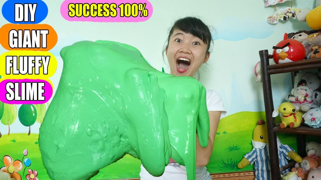 how to make fluffy slime without glue or shampoo