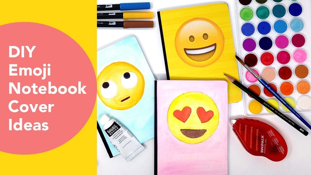 Diy Emoji Book Cover : Emoji notebook cover ideas watercoloring with tombows