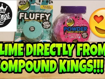 FLUFFY & POWDER SLIME FROM COMPOUND KINGS THE MAKERS OF BOBBLE BITZ, FLUFFY, NEON AND GLITZY SLIME