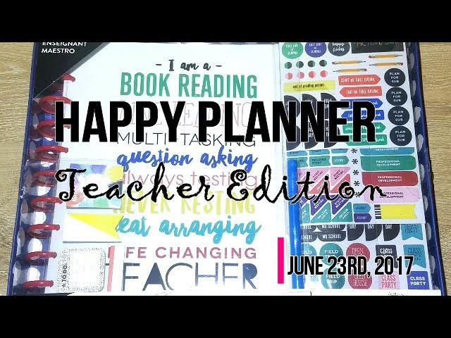 HAPPY PLANNER TEACHER EDITION UNBOXING!