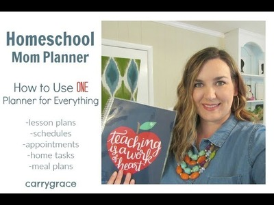 Homeschool Mom Planner | How to Use One Planner for Everything