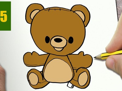 HOW TO DRAW A BEAR CUTE, Easy step by step drawing lessons for kids