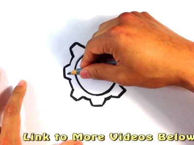 How to Draw a Cog - Easy Pictures to Draw