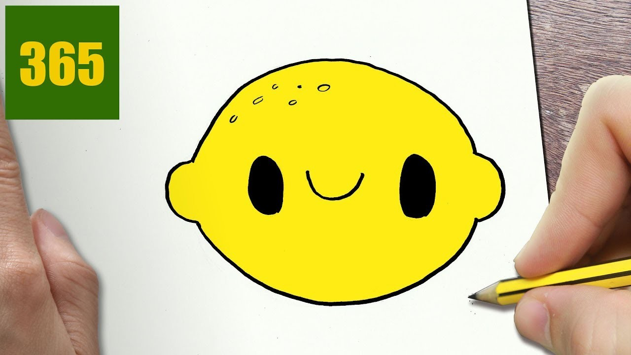 How To Draw A Lemon Cute Easy Step By Step Drawing Lessons For Kids
