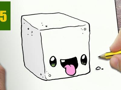 how to draw a sponge