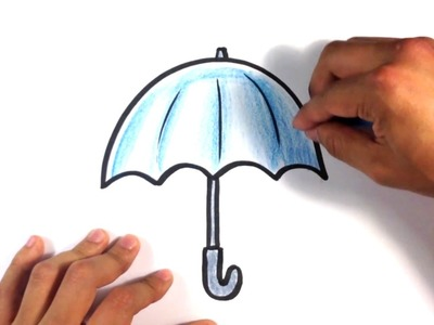 How to Draw an Umbrella - Cartoon - Easy Pictures to Draw