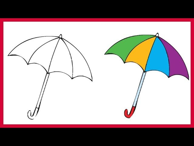 How to Draw an Umbrella Easy