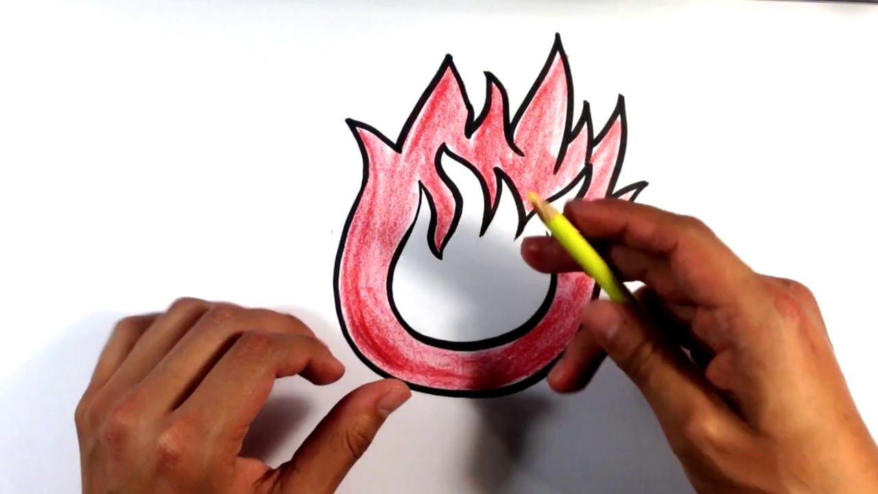 how to draw fire cartoon easy picture to draw