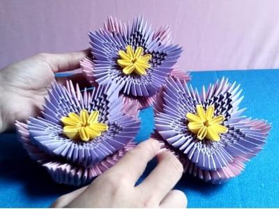 How to make 3d origami flower - làm hoa origami 3d