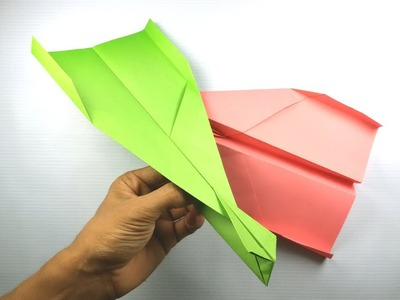 How to make a Good & Best Paper Airplane that FLY FAR   Away