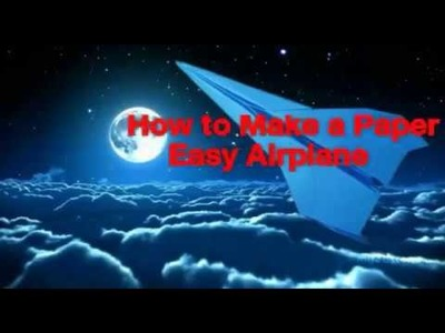 How to Make a Paper Airplane short timely-Easy make Airplane flying FAG