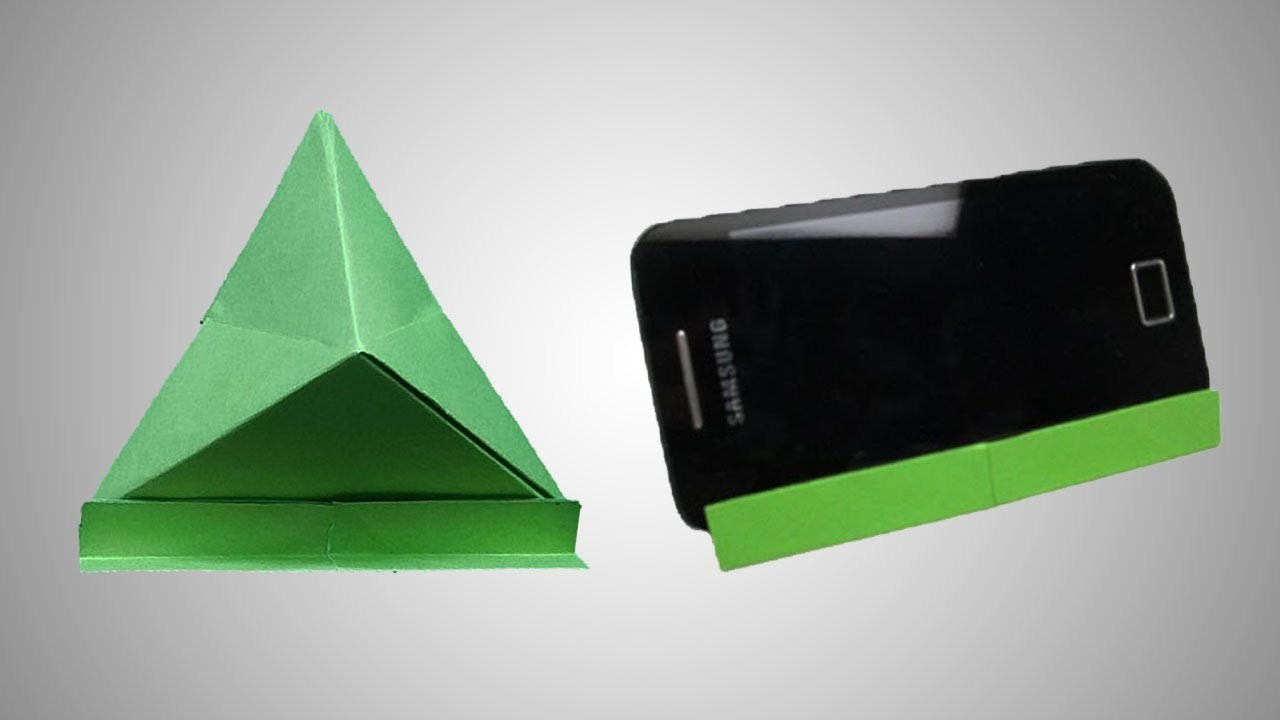 how to make a paper mobile phone stand origami mobile stand