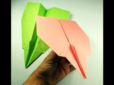 How to make Airplane glider it's a best Paper airplane in the world that FLIES 100 FEET