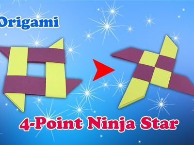 How to make an Origami Four Point Ninja Star |   how-to make easy origami at home with instructions