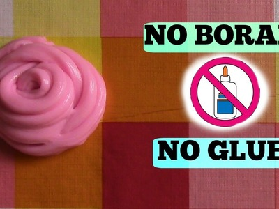 How to make Fluffy Slime without Glue and Borax!