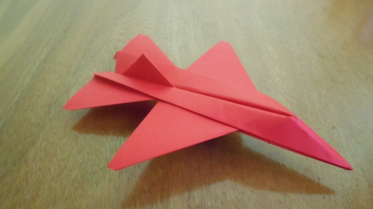 origami how to make paper airplane how to make an f16