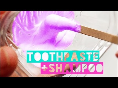How to Make Slime using ONLY Toothpaste & Shampoo TESTED