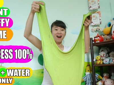 How to make Slime without Glue, Shampoo and Water only? Diy GIANT Fluffy SLIME EASY SUCCESS 100%