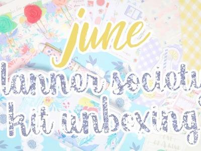 June Planner Society Kit Unboxing. Summer Picnic