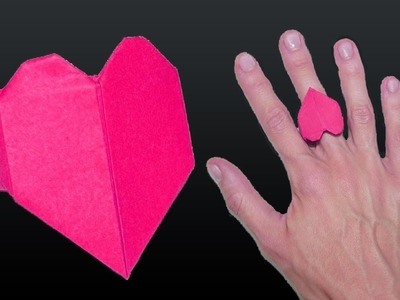 Origami Heart Ring: How to make a Origami Heart Ring  | Origami Tutorial |