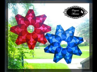 Origami Maniacs 272: Window Stars 3: Easy 8 Petal Flower