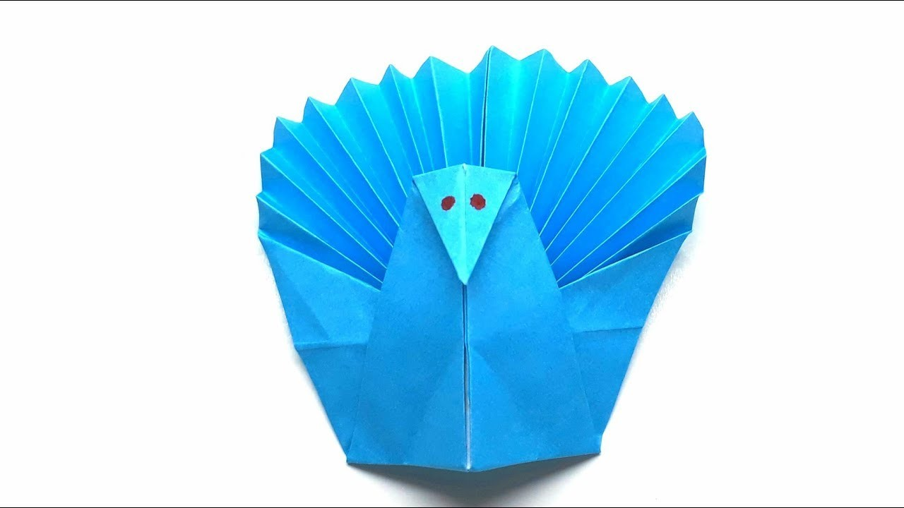 Origami Tutorial - How to fold Origam turkey for thanksgiving