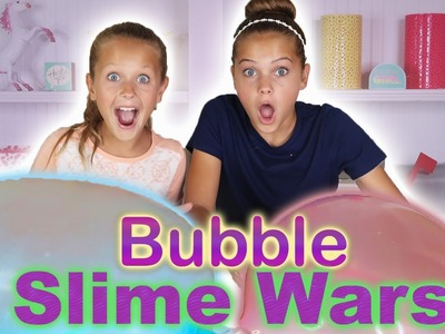 SLIME WARS!!! | DIY Fluffy Slime vs Metallic Slime Bubbles | Marissa and Brookie