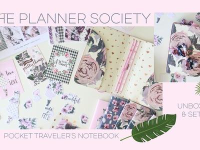The Planner Society Pocket Traveler's Notebook & Kit | Unboxing & Setup