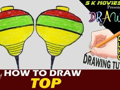 TOP | How to draw A top | Easy Drawing step by step Tutorial