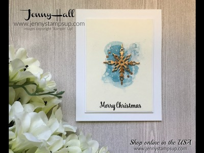 Clean and simple Christmas card using Stampin Up products with Jenny Hall