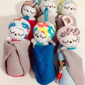 cute doll hand towels