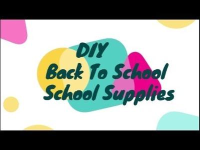 DIY BACK TO SCHOOL SUPPLIES + GIVEAWAY! DIY INDIA