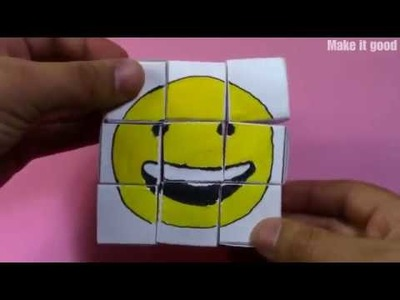 DIY Emoji Pazl from paper - Entertaining toy for Kids