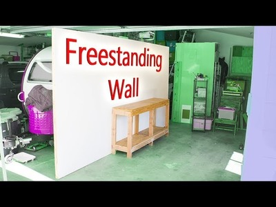 DIY Freestanding Wall - workshop improvement project