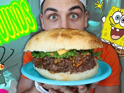 DIY Giant Krabby Patty Food Challenge